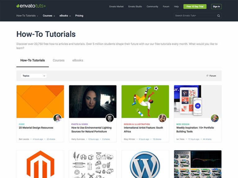 Envato_Tuts+トップページ