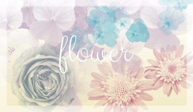 flower(自作ブラシ)