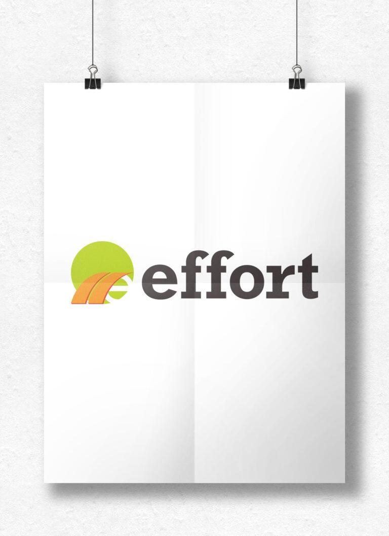 株式会社effort ロゴ モックアップ