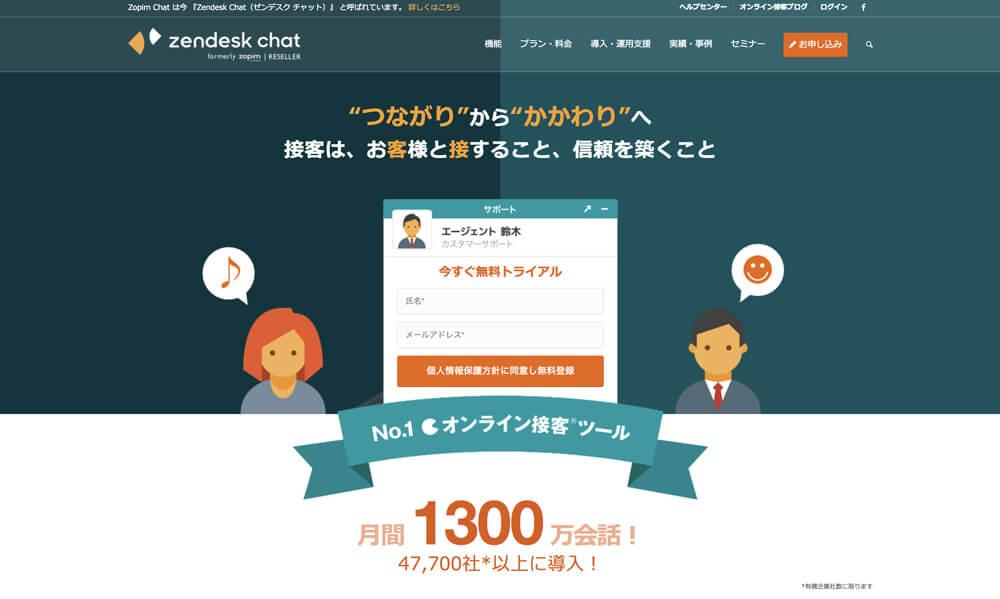zendesk-chat トップページ